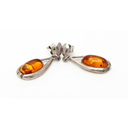Ohrhänger aus 925er Silber & Bernstein