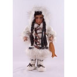 Porzellanpuppe Eskimo