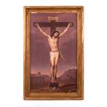 Ölgemälde, Jesus am Kreuz um 1800 *