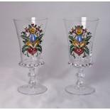 2 Stück Gläser handbemalt *
