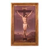 Ölgemälde, Jesus am Kreuz um 1800
